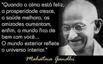 Mahatma Ghandi.
